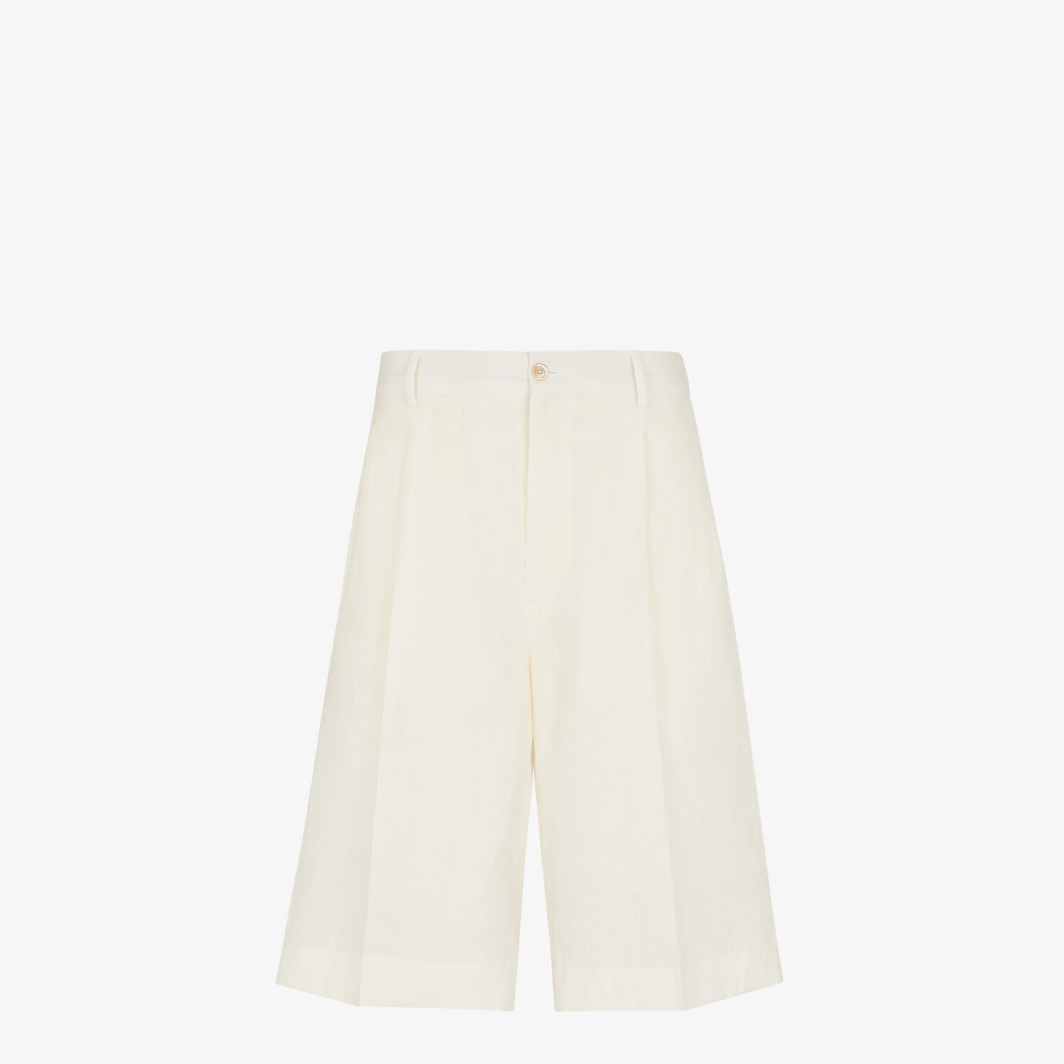FENDI BERMUDAS - Natural hemp fabric trousers - view 1 detail