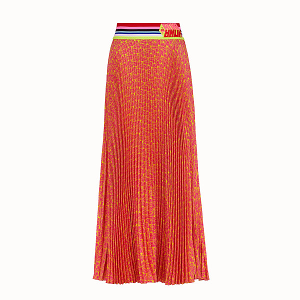 FENDI SKIRT - Fendi Roma Amor satin skirt - view 1 small thumbnail