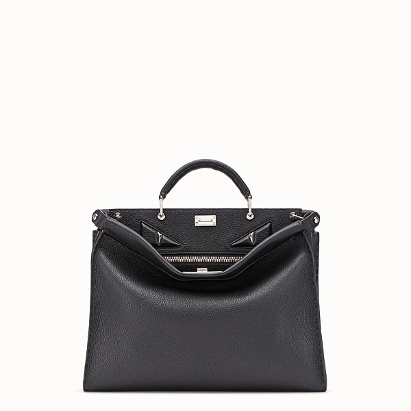 FENDI PEEKABOO ICONIC FIT - Sac en cuir noir - view 1 small thumbnail