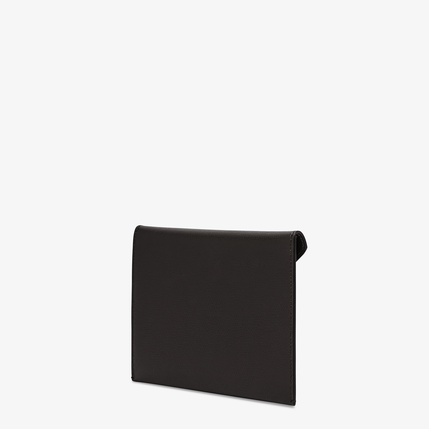 FENDI MEDIUM FLAT POUCH - Black leather pouch - view 2 detail