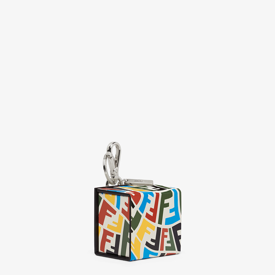 FENDI KEY CHARM - Multicolor leather key case - view 2 detail