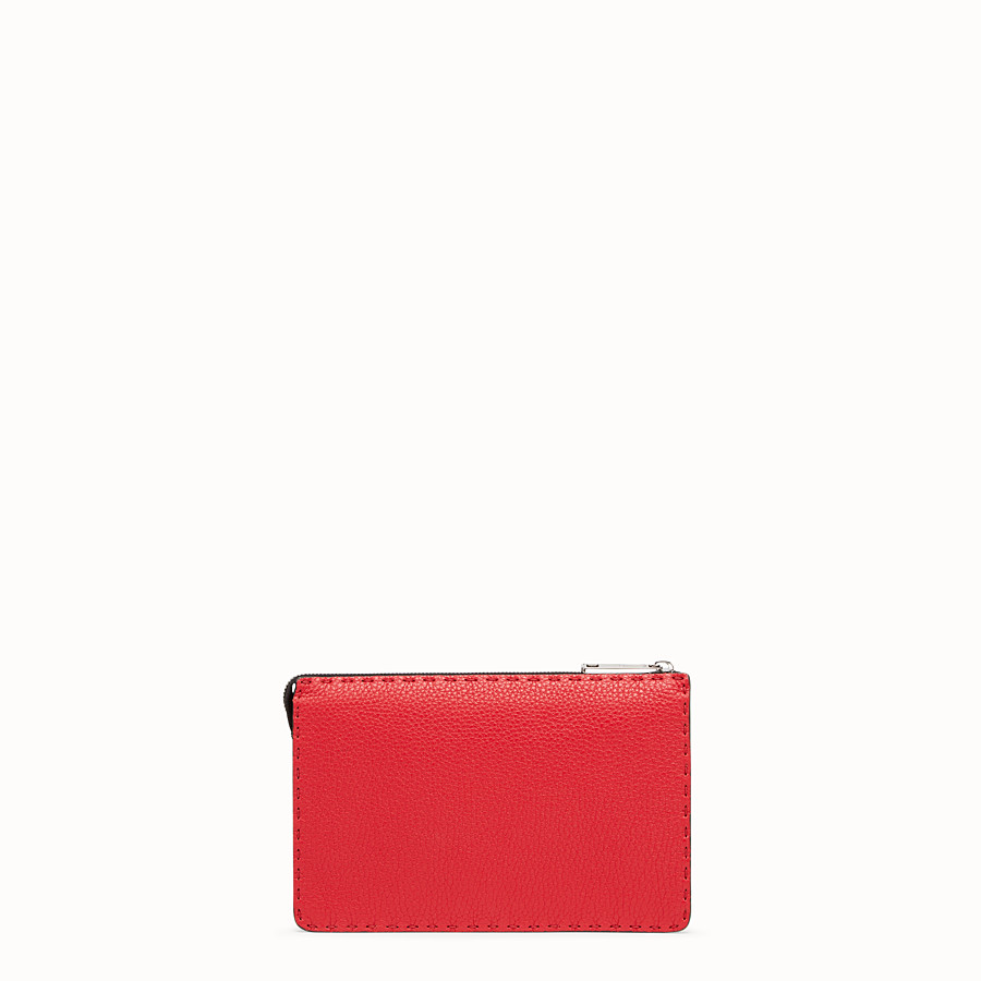 FENDI CLUTCH - Multicolour leather pochette - view 3 detail