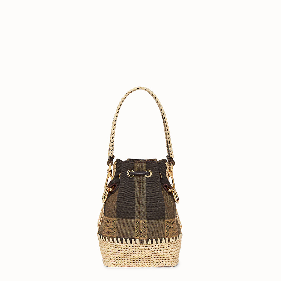 FENDI MON TRESOR - Minibag in tessuto marrone - vista 4 dettaglio