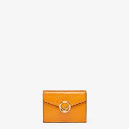 FENDI MICRO TRIFOLD - Orange karung wallet - view 1 thumbnail