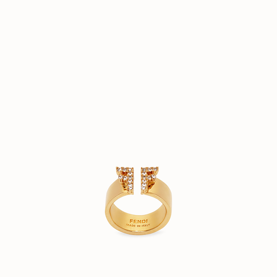 FENDI FFREEDOM RING - Gold-colour ring - view 1 detail