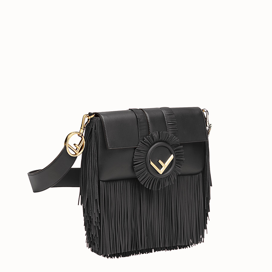 FENDI BAGUETTE - Black nappa bag - view 2 detail