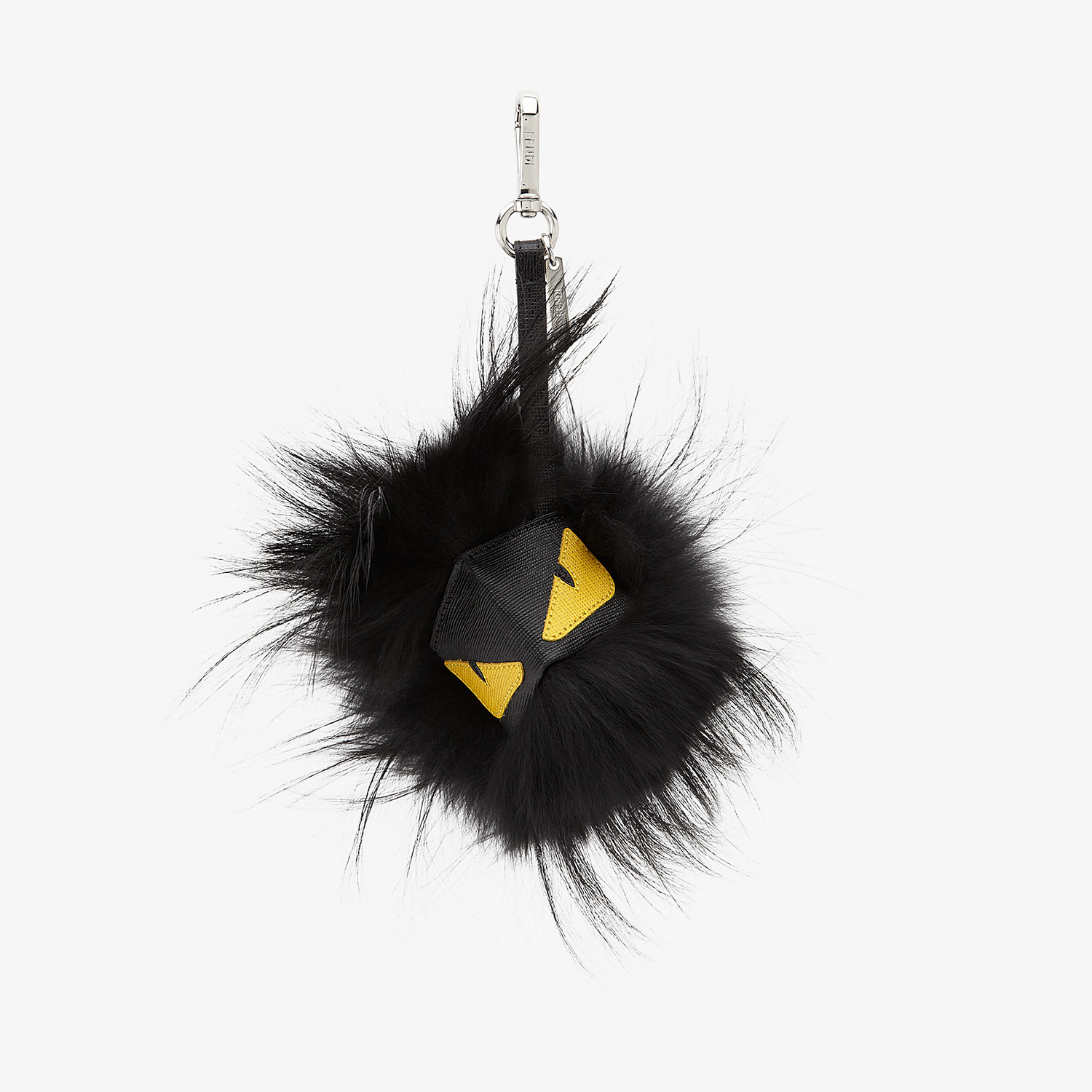 FENDI BAG BUG CHARM - in black fur with yellow eyes - view 1 detail