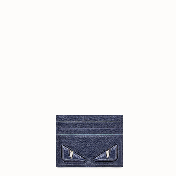 FENDI CARD HOLDER - Blue leather card holder - view 1 small thumbnail