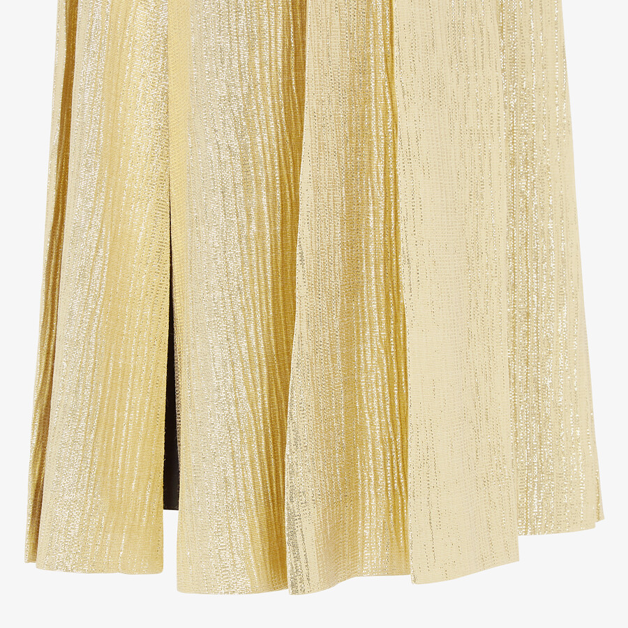 FENDI SKIRT - Gold Lurex skirt - view 3 detail