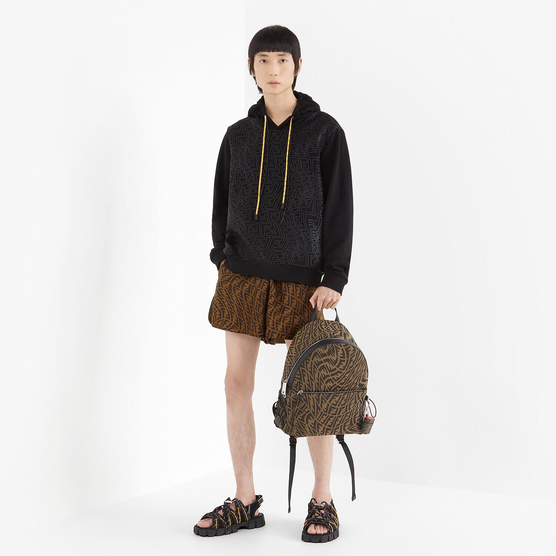 FENDI BERMUDAS - Brown silk pants - view 4 detail