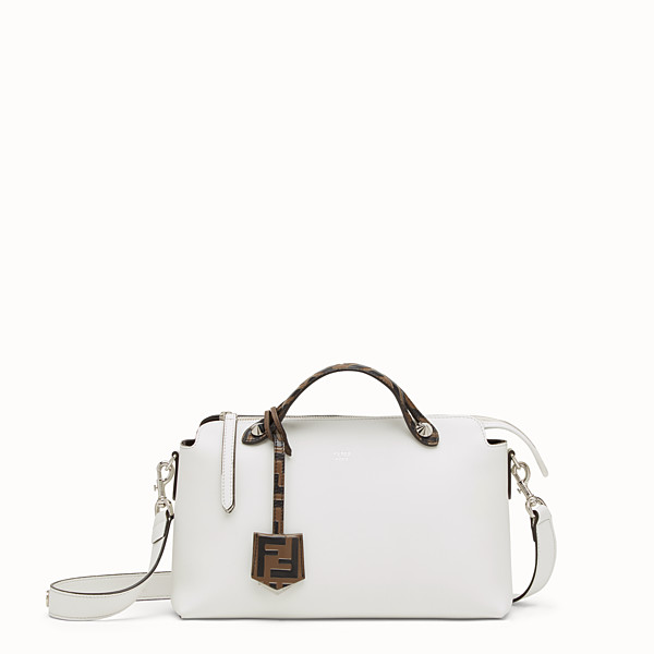 FENDI BY THE WAY REGULAR - White leather Boston bag - view 1 small thumbnail