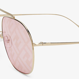 FENDI FF FAMILY - Metal sunglasses with FF logo - view 3 thumbnail