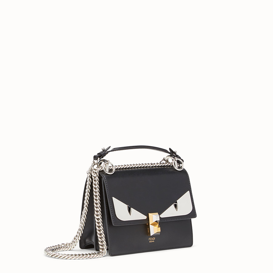 FENDI KAN I SMALL - Bag Bugs black leather mini bag - view 2 detail