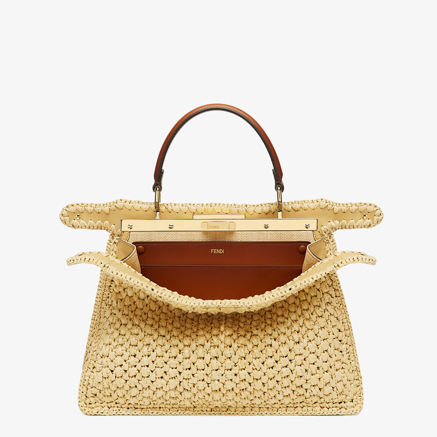 FENDI PEEKABOO ISEEU MEDIUM - Woven straw bag - view 3 detail