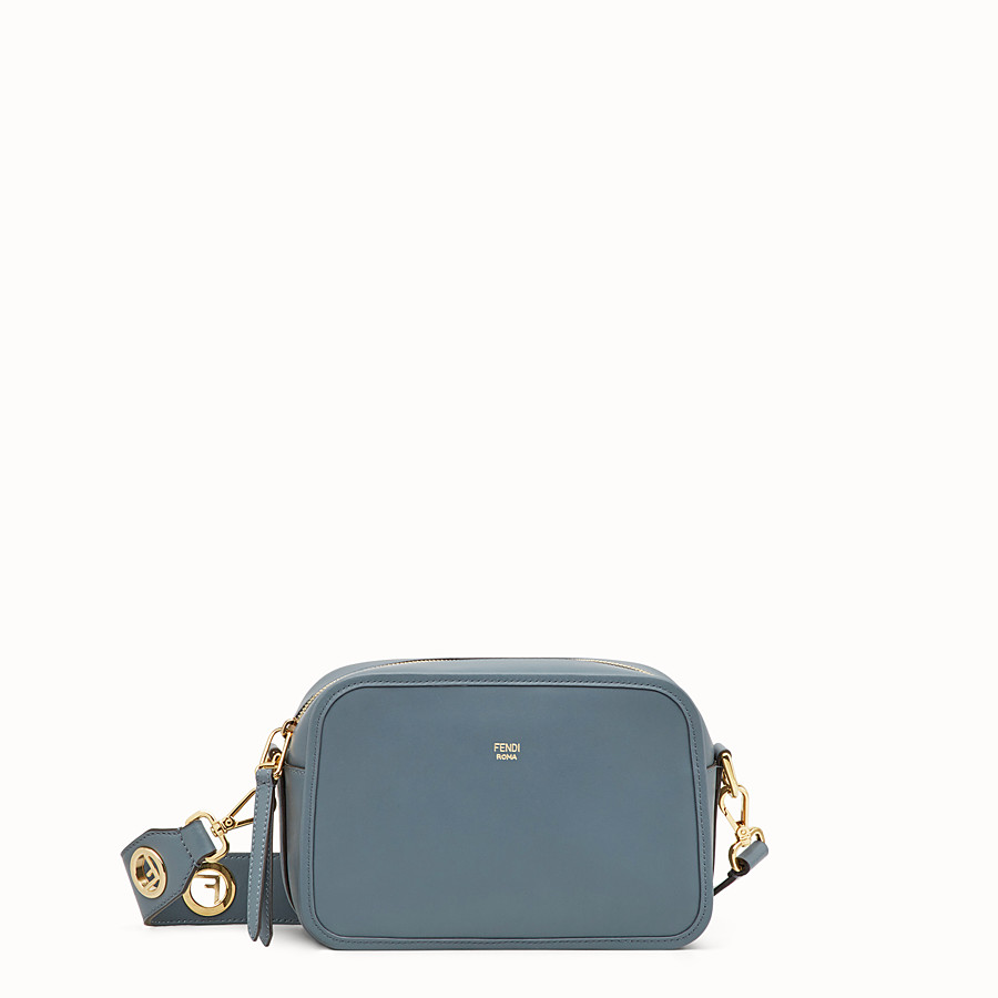 FENDI CAMERA CASE - Blue leather bag - view 1 detail