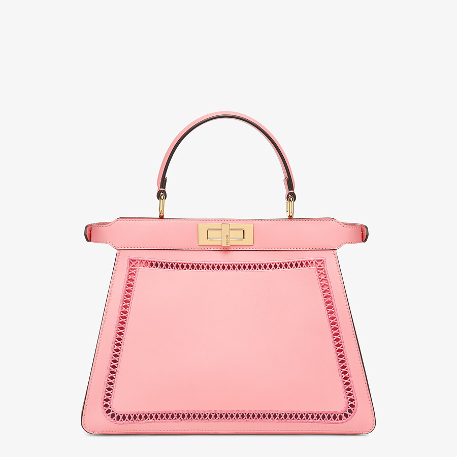 FENDI PEEKABOO ISEEU MEDIUM - Pink leather bag with embroidery - view 5 detail