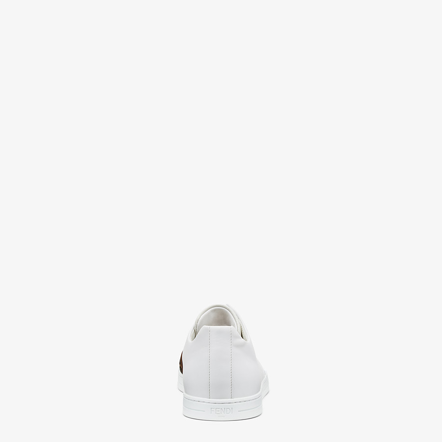 FENDI SNEAKERS - White leather slip-ons - view 3 detail