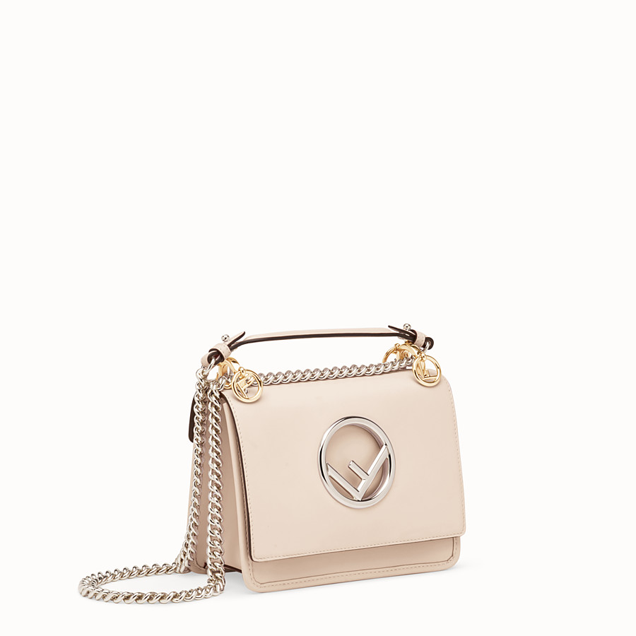 FENDI KAN I LOGO SMALL - Pink leather minibag - view 2 detail