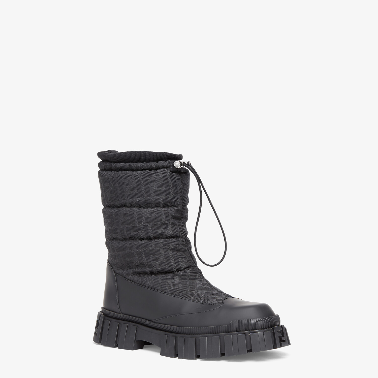FENDI ANKLE BOOTS - Black leather boots - view 2 detail