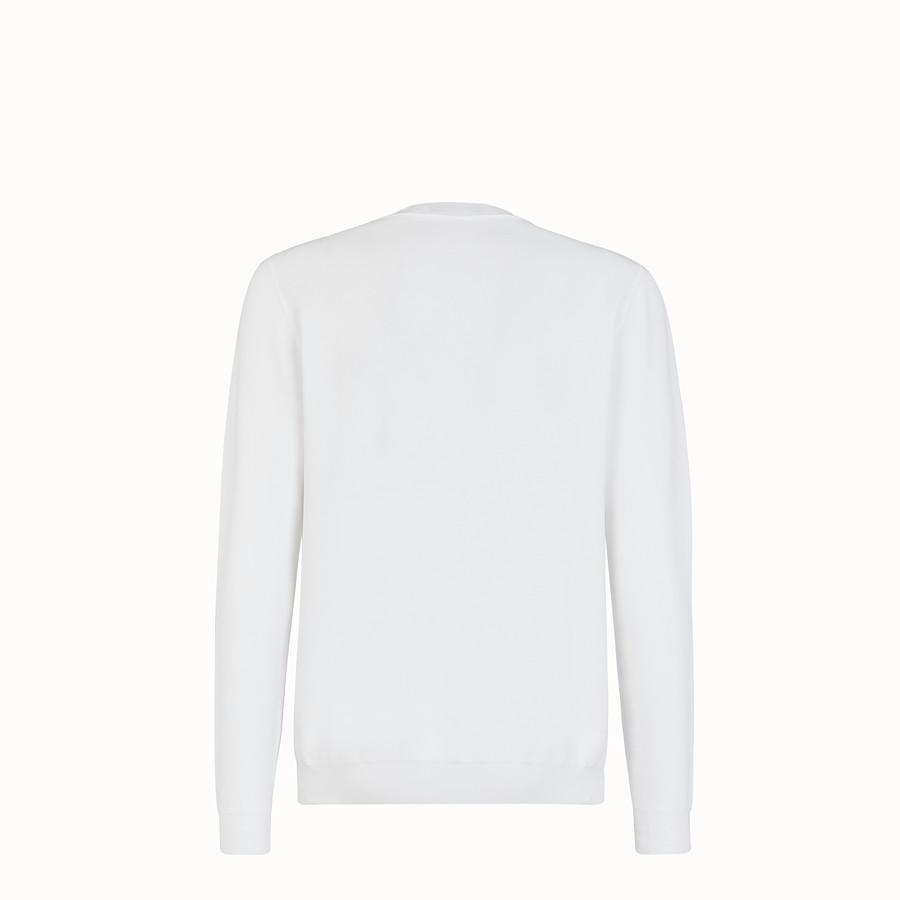FENDI セーター - ホワイトコットン セーター - view 2 detail