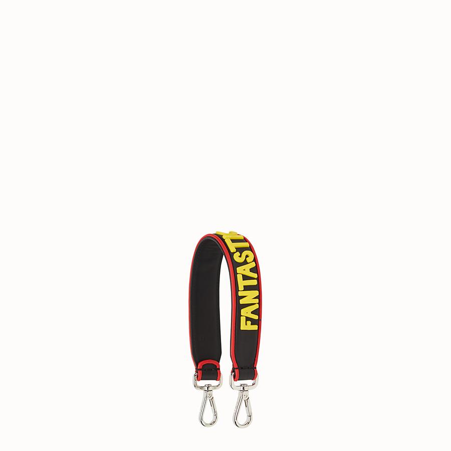 FENDI 미니 스트랩 유 - 길이가 짧은 블랙 및 옐로우 컬러의 숄더 스트랩 - view 1 detail