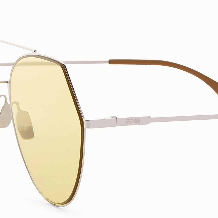 FENDI EYELINE - Silver-colour sunglasses - view 3 detail