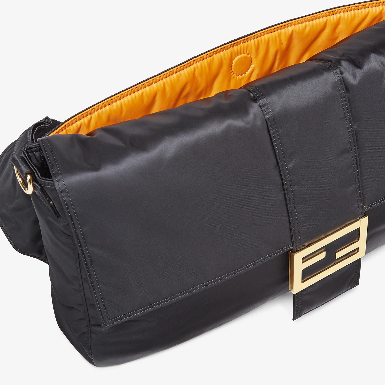 FENDI BAGUETTE FENDI AND PORTER - Black nylon bag - view 6 detail