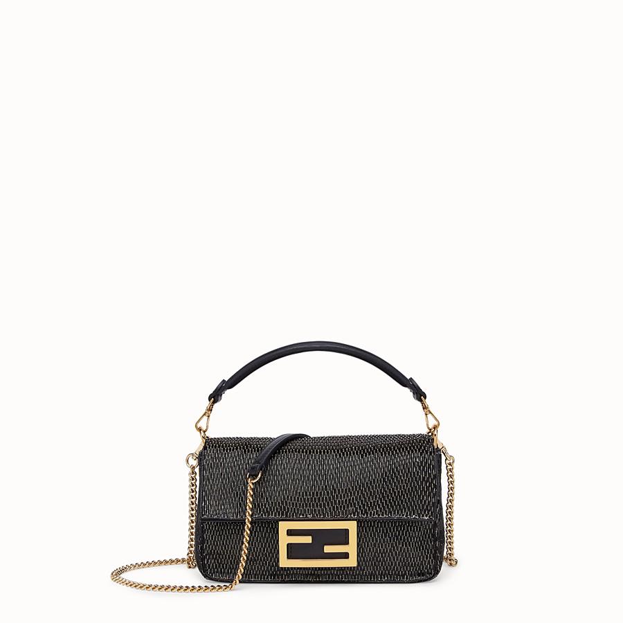 FENDI BAGUETTE - Black leather bag - view 1 detail