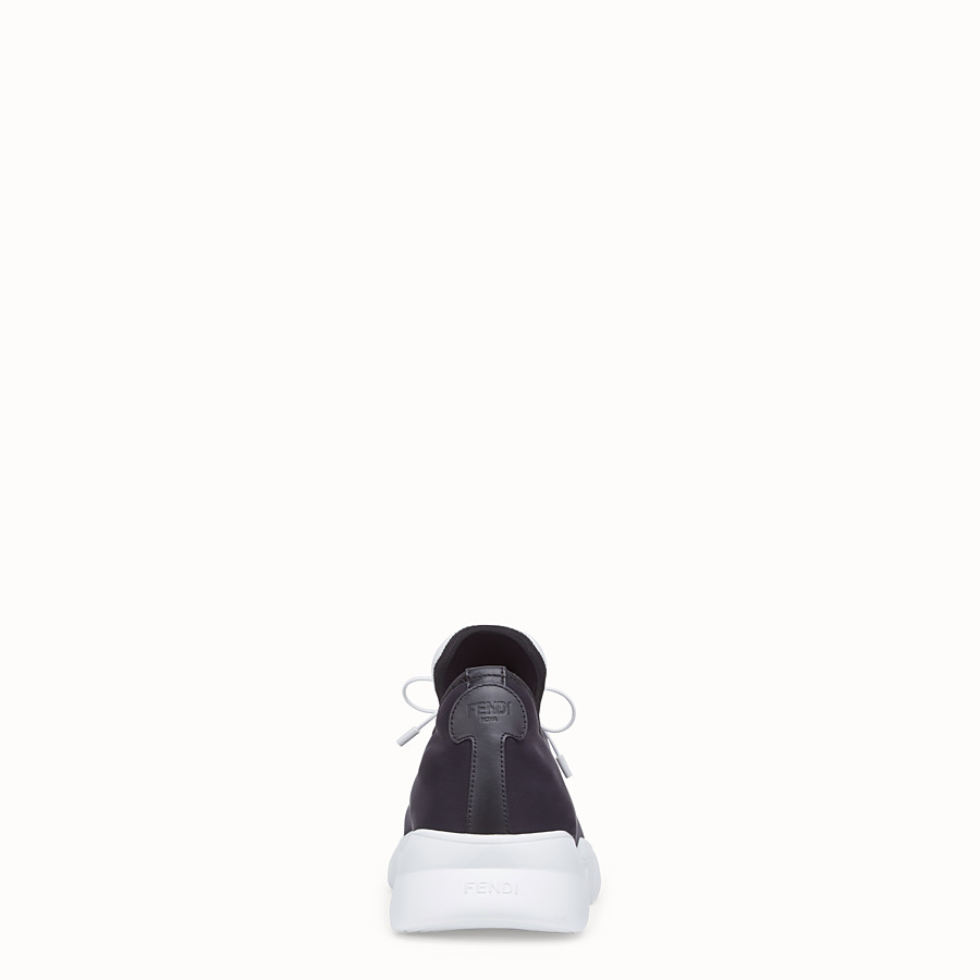 FENDI SNEAKERS - Black fabric high-tops - view 3 detail