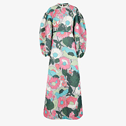 FENDI DRESS - Multicolor quilted fabric dress - view 1 thumbnail