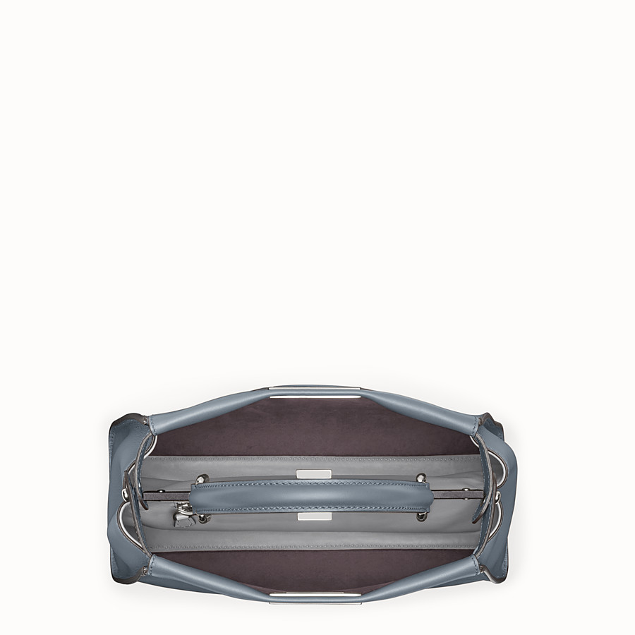 FENDI PEEKABOO REGULAR - Blue leather bag - view 4 detail