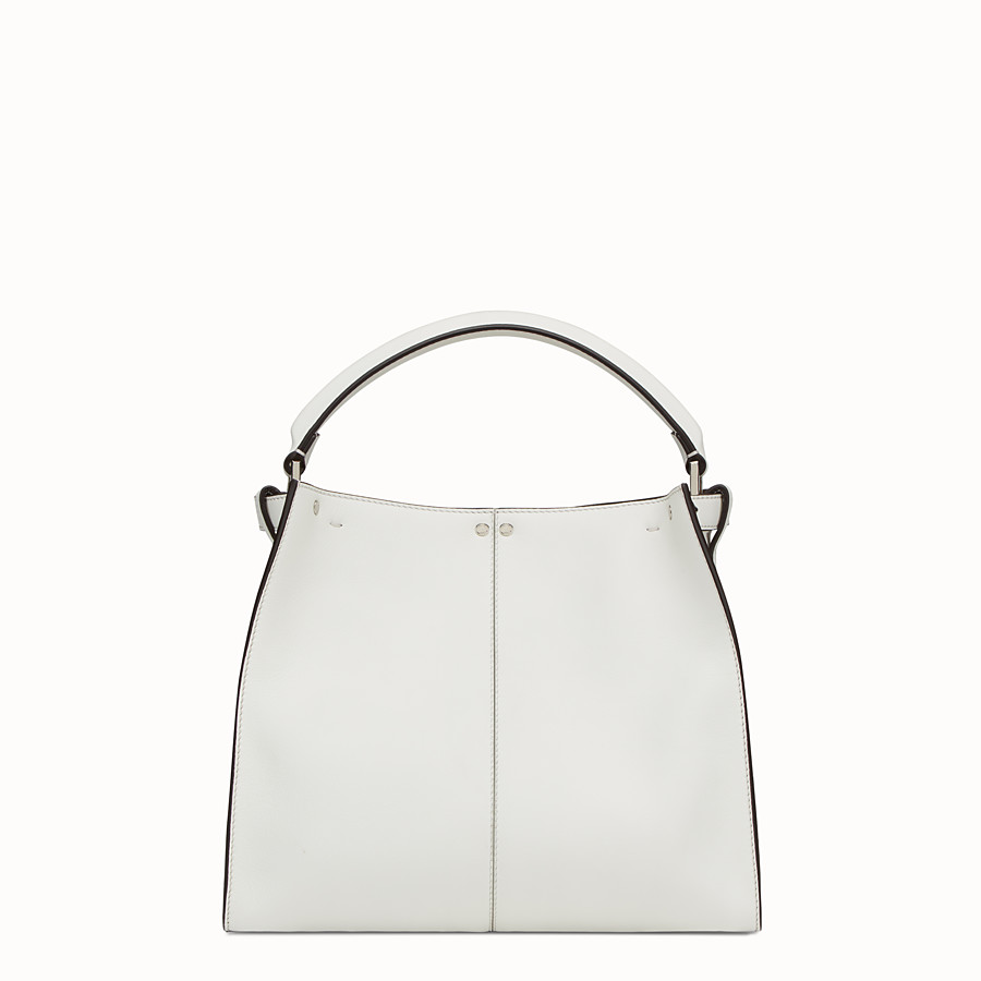 FENDI PEEKABOO X-LITE REGULAR - White leather bag - view 4 detail