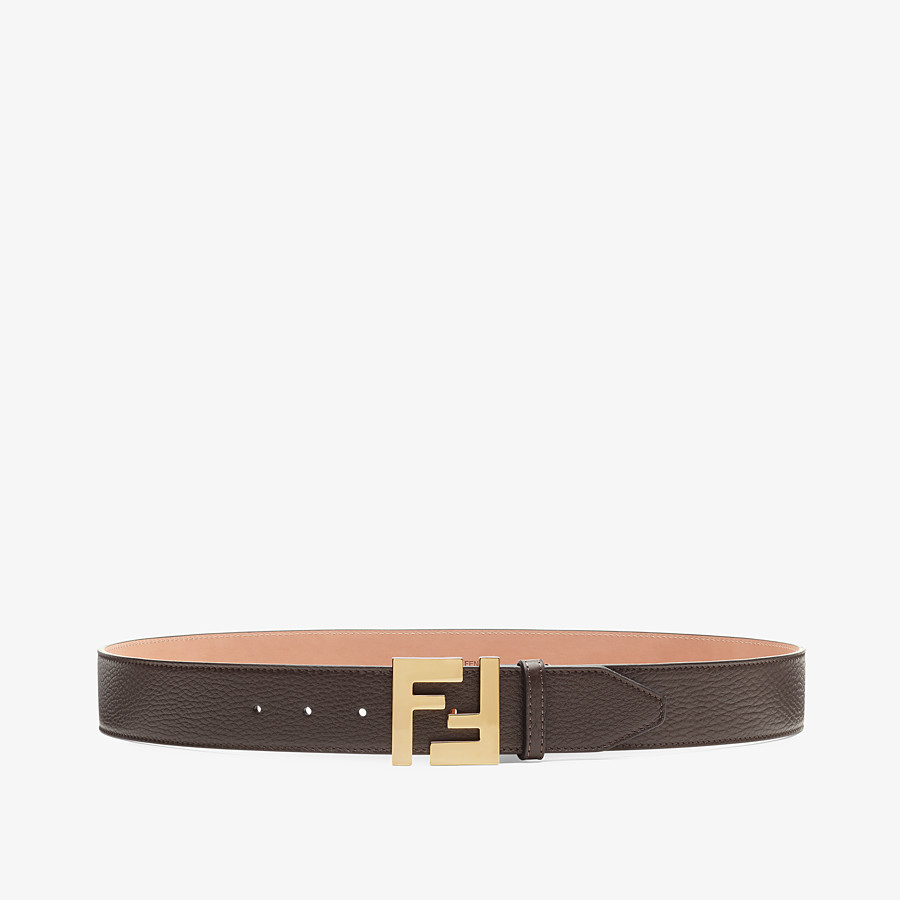 FENDI BELT - Brown Cuoio Romano leather belt - view 1 detail