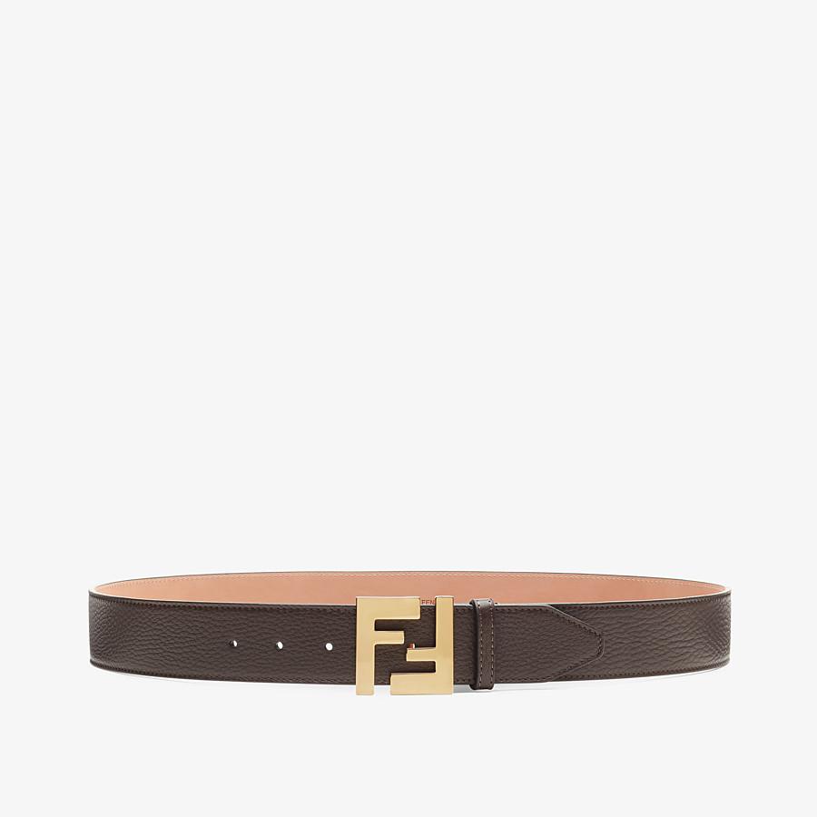 FENDI BELT - Brown Cuoio Romano leather belt - view 1 detail