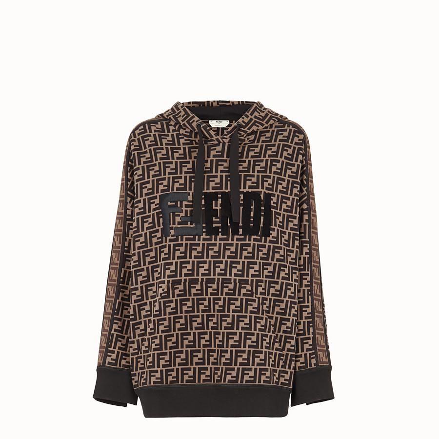 FENDI スウェットシャツ - マルチカラーコットン フーディ - view 1 detail