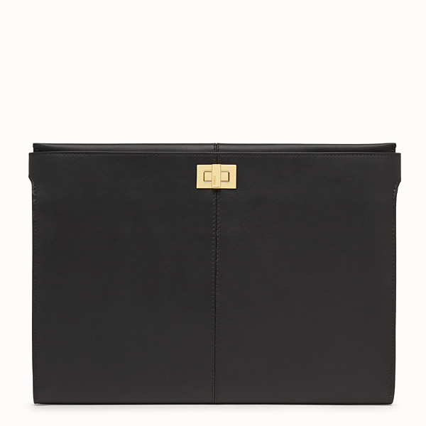 FENDI CLUTCH WALLET - Black leather clutch bag - view 1 small thumbnail