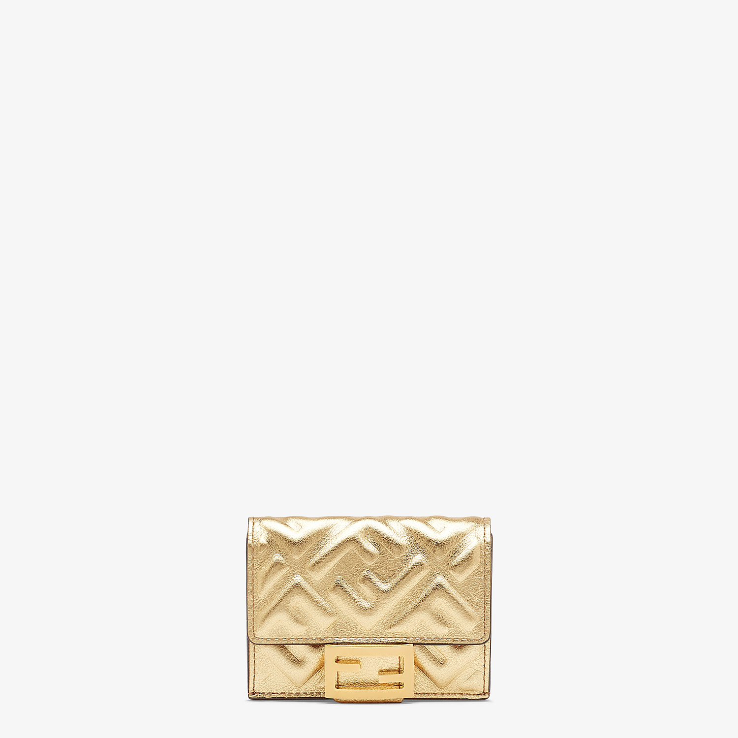 FENDI MICRO TRIFOLD - Wallet in golden leather - view 1 detail