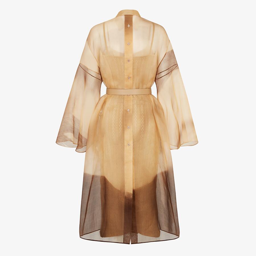 FENDI DRESS - Yellow silk dress - view 2 detail