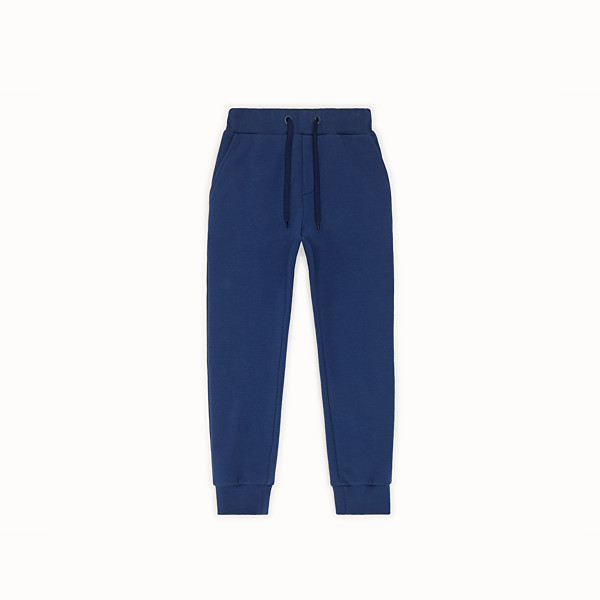 FENDI TROUSERS - Blue sweatshirt-fleece tracksuit trousers - view 1 small thumbnail