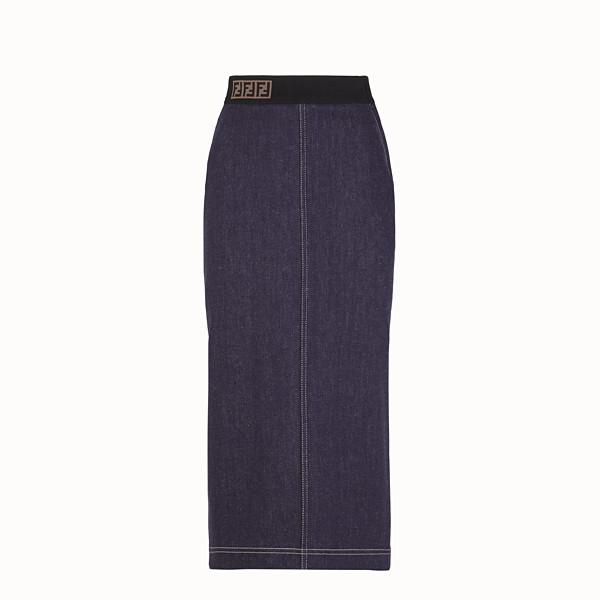 FENDI SKIRT - Blue denim skirt - view 1 small thumbnail