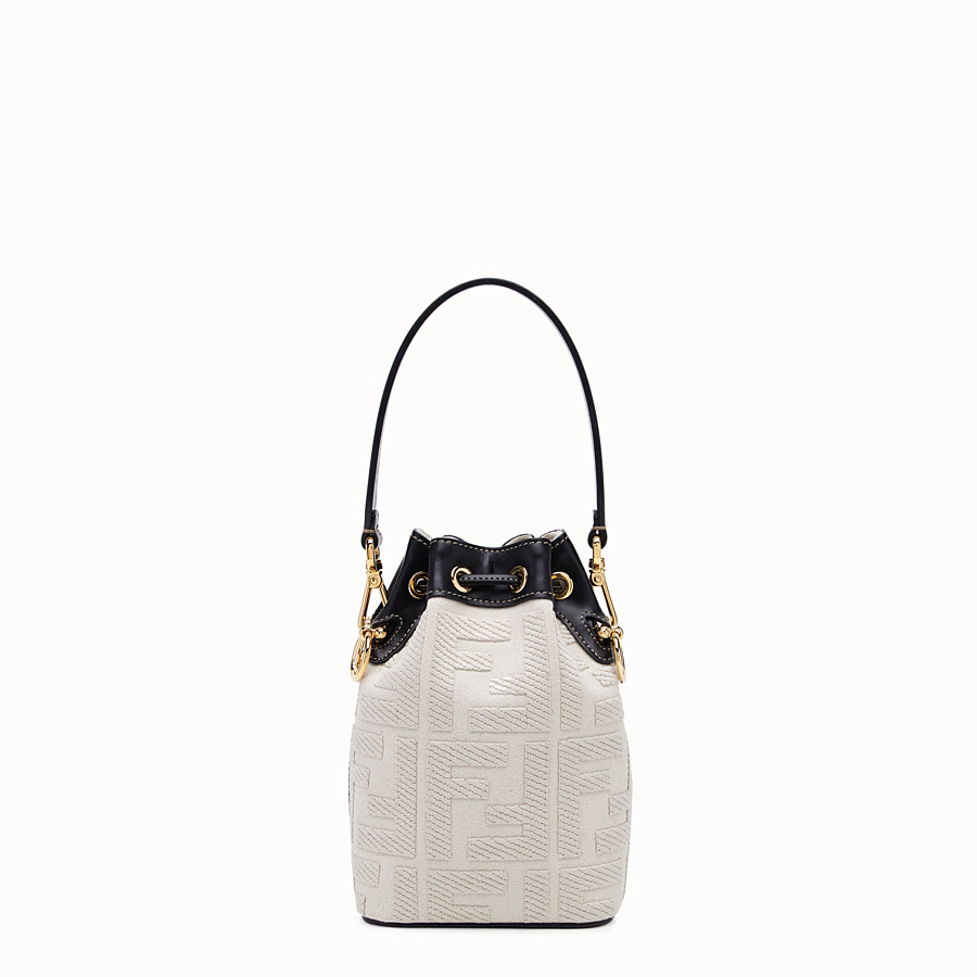 FENDI MON TRESOR - Mini bag in beige canvas - view 4 detail