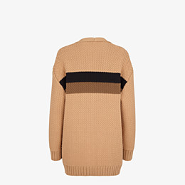 FENDI CARDIGAN - Beige cotton cardigan - view 2 thumbnail