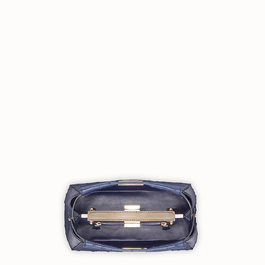 FENDI PEEKABOO MINI - Sac en autruche bleu - view 4 detail