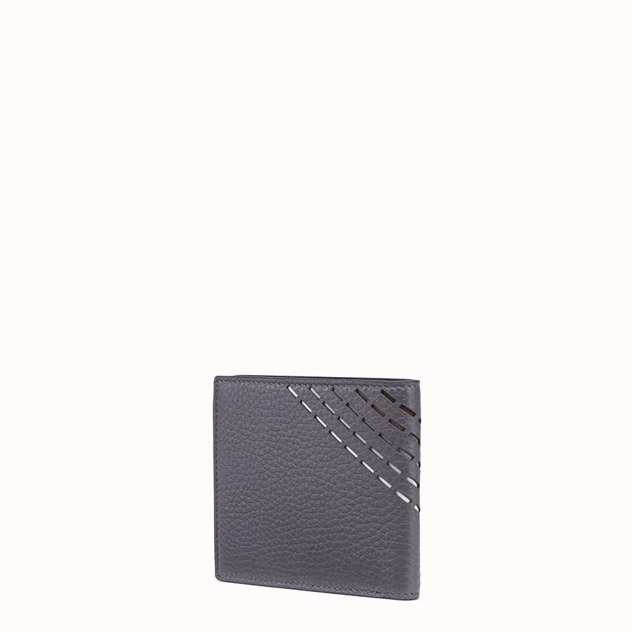 FENDI WALLET - Grey, calf leather bi-fold wallet - view 2 detail
