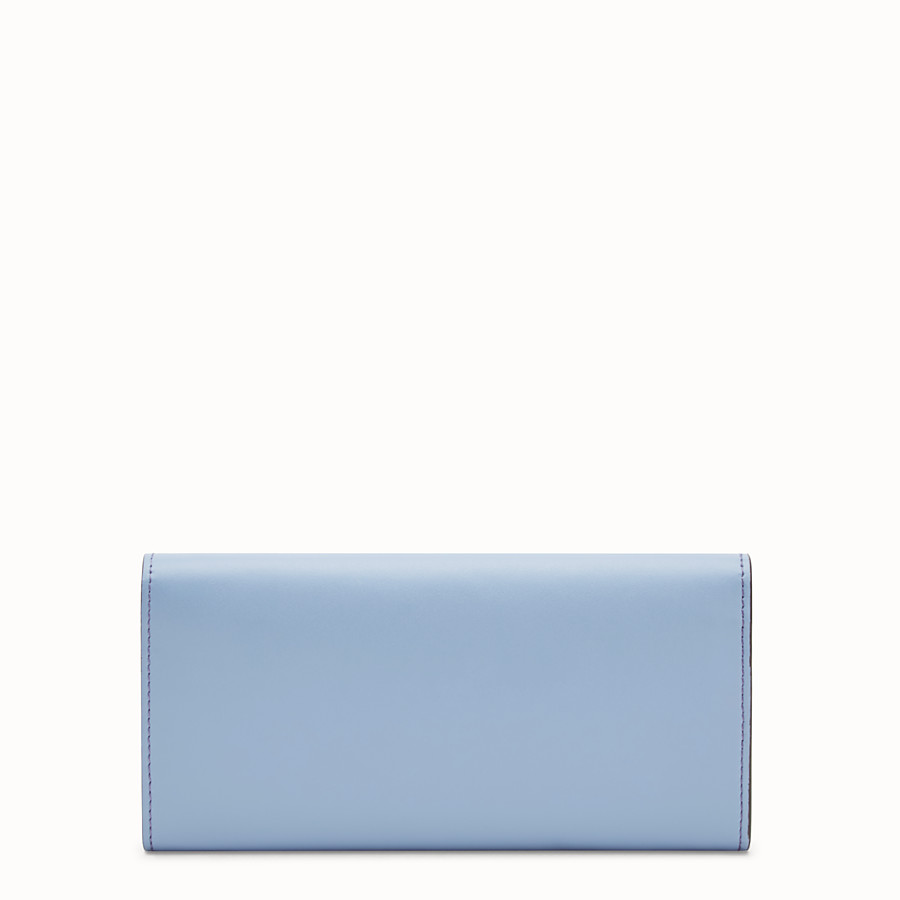 FENDI CONTINENTAL WITH CHAIN - Light blue leather wallet - view 3 detail