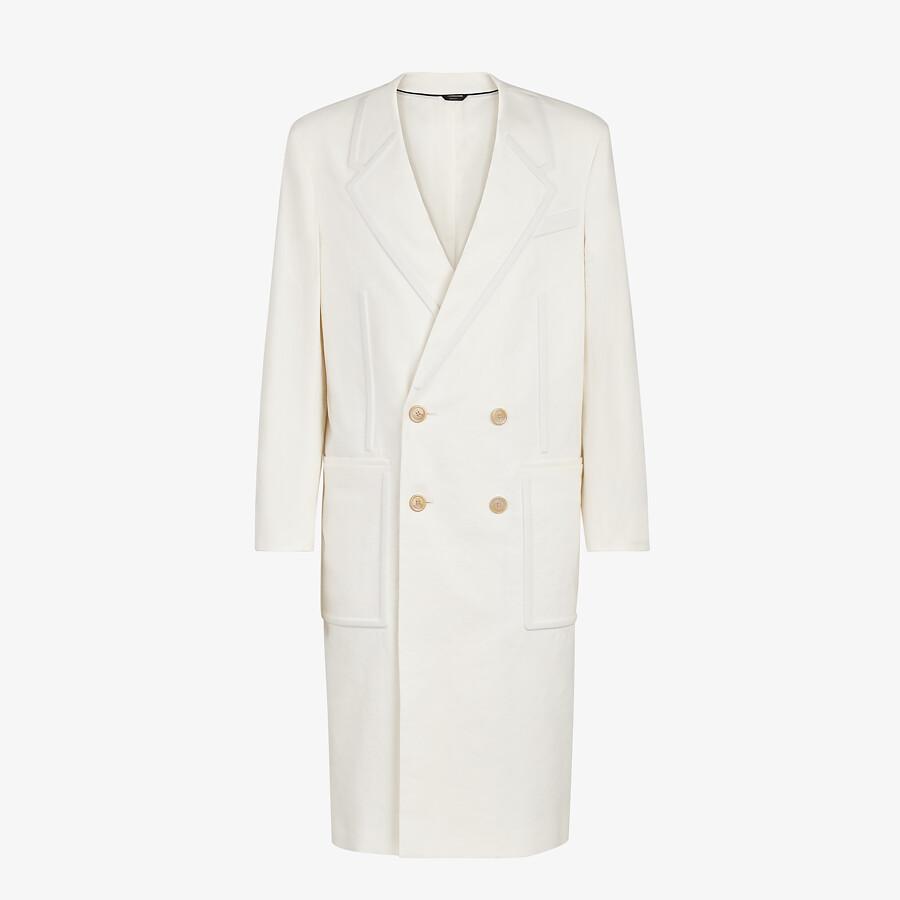 FENDI COAT - White linen coat - view 1 detail