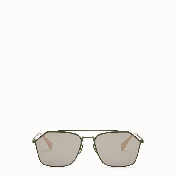 FENDI EYELINE - Green sunglasses - view 1 small thumbnail