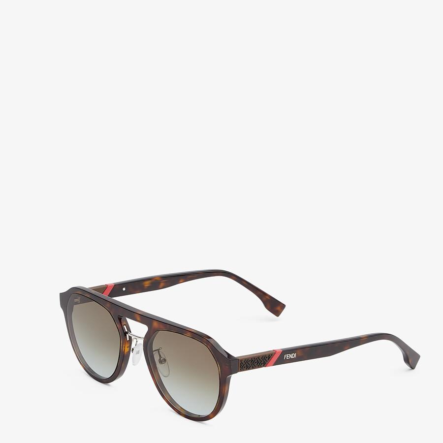 FENDI FENDI DIAGONAL - Havana sunglasses - view 2 detail