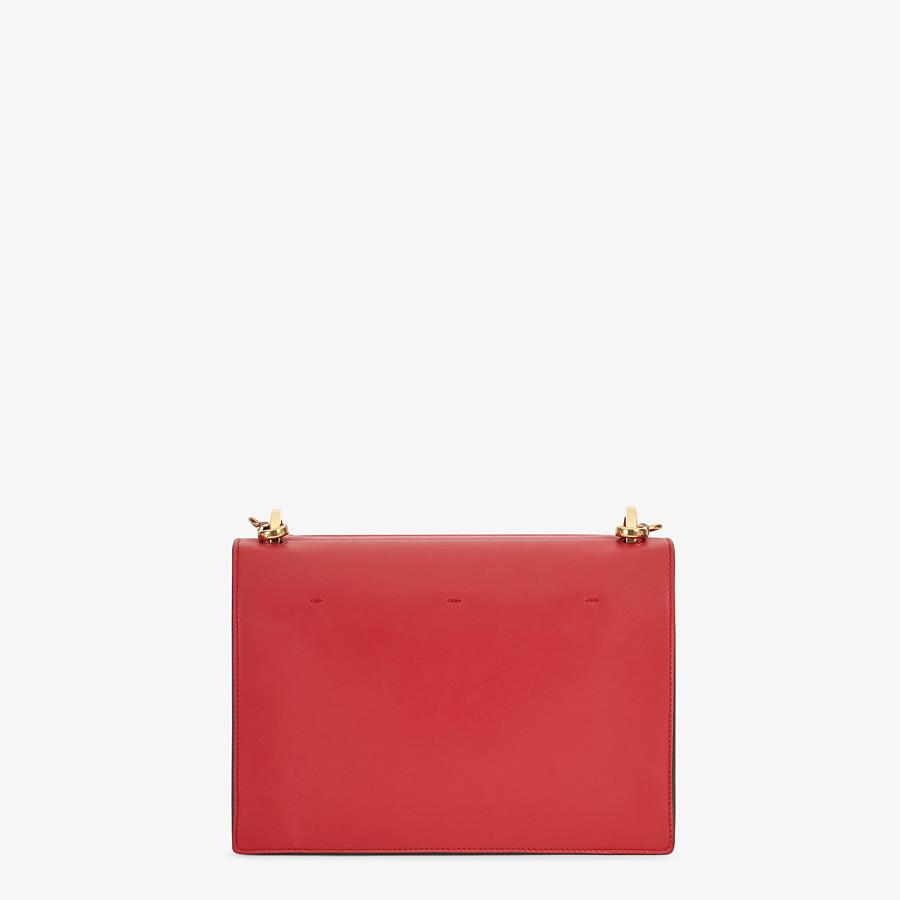FENDI KAN U - Tasche aus Leder in Rot - view 4 detail