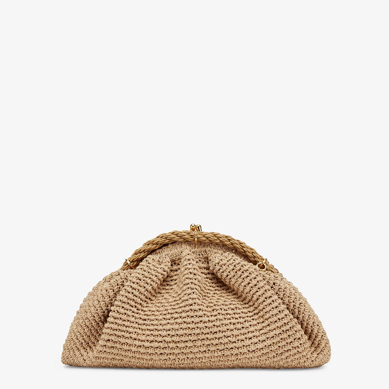 FENDI SHELL - Beige cotton-crochet pochette - view 3 detail